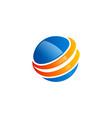 globe planet round ball logo vector image vector image