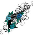guns on flower and vector image vector image