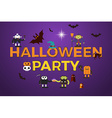 Halloween Party word design vector image vector image