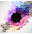 hand drawn watercolor background with decorative vector image vector image