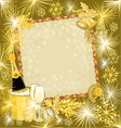 Happy New Year in gold merry backgrounds vector image