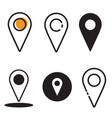 icon location bundle vector image