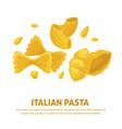 italian pasta cuisine poster vector image vector image