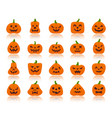 jack o lantern simple flat color icons set vector image vector image