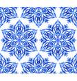 kaleidoscope thin blue flower background vector image vector image