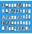 large set different abstract mobile phones part vector image vector image