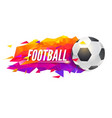 logo for football teams or tournaments vector image