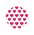 love heart logo background love heart logo vector image vector image
