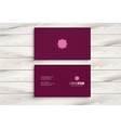 Minimal modern business card design vector image vector image