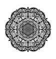 monochrome mandala doodle element in boho style vector image vector image