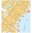 new orleans french quarter street map vector image vector image
