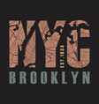 new york brooklyn tee print vector image vector image