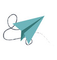 paper airplane creativity imagination free vector image vector image