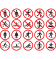 Pictogram people signs vector image vector image