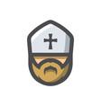 priest religion men icon cartoon vector image vector image
