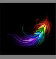rainbow feather vector image vector image