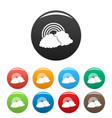 rainbow icons set color vector image vector image