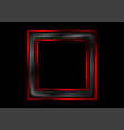 red and black glossy square frame abstract vector image vector image