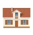 residential house facade vector image vector image