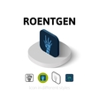 Roentgen icon in different style vector image vector image