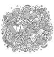 rome hand drawn cartoon doodles vector image
