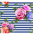 rose flower floral seamless pattern vector image