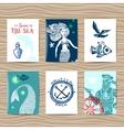 sailor and mermaid vector image