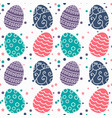 seamless pattern with easter eggs and dods design vector image vector image