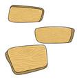 set cartoon wooden boards design element vector image vector image