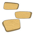 set of cartoon wooden boards design element for vector image