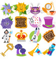 set of on the theme of fairy tale alices vector image vector image
