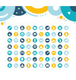 set simple icons winter vector image vector image