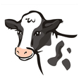 smiling cow portrait vector image vector image