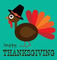 thanksgiving cute turkey profile graphic vector image vector image