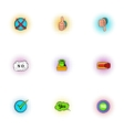 Tick icons set pop-art style vector image vector image