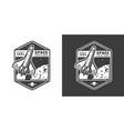 vintage monochrome space exploration label vector image vector image