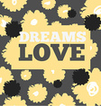 Vintage print and text love For t-shirt or other vector image vector image