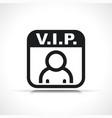 vip user icon symbol vector image