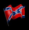 waving confederate american flag isolated on black vector image vector image