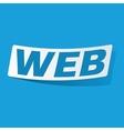 WEB sticker vector image vector image
