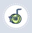 wheelchair icon healthcare medical service vector image vector image