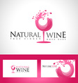 Wine Glass Logo vector image vector image