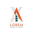 ya modern logo design with orange and green color vector image vector image