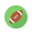 American football ball icon vector image