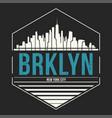 brooklyn new york graphic t-shirt design tee vector image