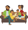 Young family vector image