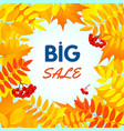 autumn big sale concept background flat style vector image