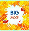 autumn big sale concept background flat style vector image