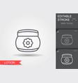 baby cream lotion line icon with editable stroke vector image