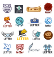 biggest collection of logo design delivery of vector image vector image